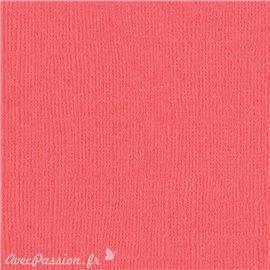 Papier scrapbooking Bazzill Canvas 30x30cm 1fe uni Roselle
