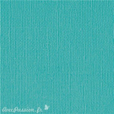 Papier scrapbooking Bazzill Canvas 30x30cm 1fe uni Capri sea