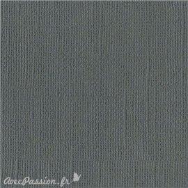 Papier scrapbooking Bazzill Canvas 30x30cm 1fe uni Ash