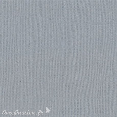 Papier scrapbooking Bazzill Canvas 30x30cm 1fe uni Smoky