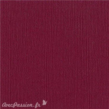 Papier scrapbooking Bazzill Canvas 30x30cm 1fe uni Juneberry
