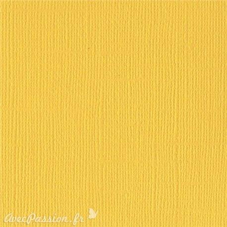Papier scrapbooking Bazzill Canvas 30x30cm 1fe uni Classic Yellow