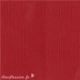 Papier scrapbooking Bazzill Canvas 30x30cm 1fe uni Bazzill Red