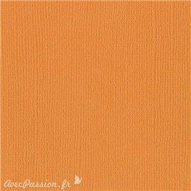 Papier scrapbooking Bazzill Canvas 30x30cm 1fe uni Apricot