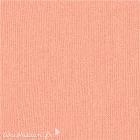 Papier scrapbooking Bazzill Canvas 30x30cm 1fe uni Coral cream