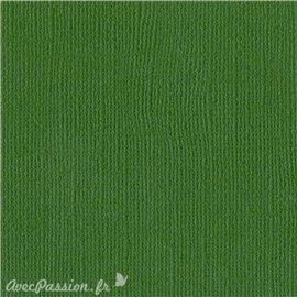 Papier scrapbooking Bazzill Canvas 30x30cm 1fe uni Bazzill Green
