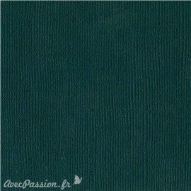 Papier scrapbooking Bazzill Canvas 30x30cm 1fe uni Jade