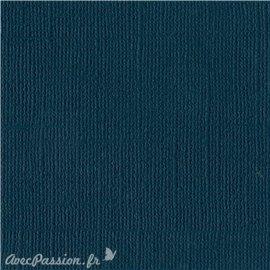Papier scrapbooking Bazzill Canvas 30x30cm 1fe uni Mysterious Teal