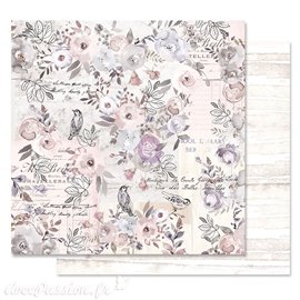 Papier scrapbooking Prima lavender frost finding the way