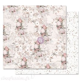 Papier scrapbooking Prima Lavender Frost the road to you