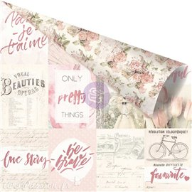 Papier scrapbooking Prima Love Story notes that last forever