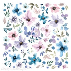 Prima Watercolor Floral ephemera 77 pcs avec dorure 14x11cm