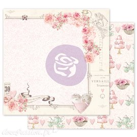 Papier scrapbooking Prima with love carry me in your heart avec dorure
