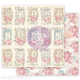Papier scrapbooking Prima With Love through the garden avec dorure