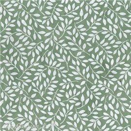 Papier népalais lokta lamaLi Saule feuilles naturel sur vert