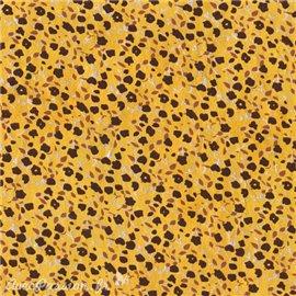 Papier népalais lokta lamaLi Floralis noir sur jaune