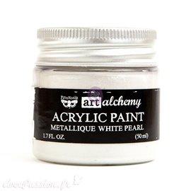 Peinture métallique Art Alchemy white pearl