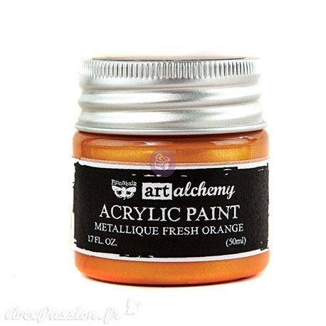 Peinture métallique Art Alchemy orange