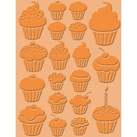 Classeur gaufrage fond cupcakes Craft Concepts