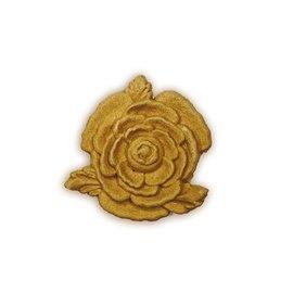 Moulure Woodubend Lot de cinq petites roses à feuilles 4cm