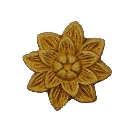 Moulure Woodubend Lot de cinq petites fleurs exotiques 2x3cm