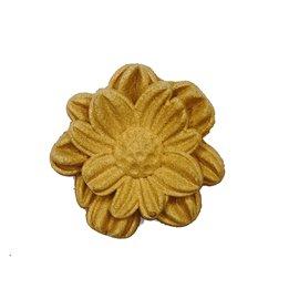 Moulure Woodubend Pack de cinq fleurs pétales moyennes 3 × 5cm