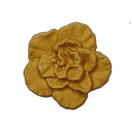 Moulure Woodubend Lot de cinq fleurs pétales douces 4x4cm