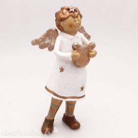 Objet de décoration Noel ange musicien shabby chic
