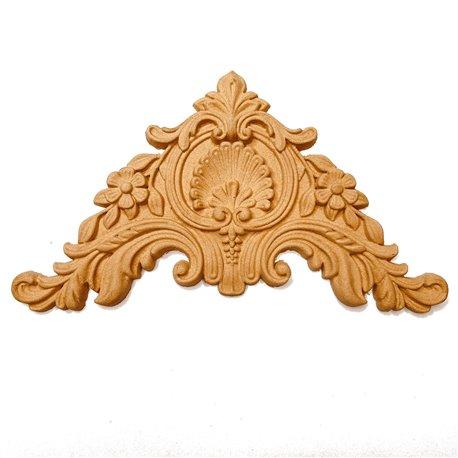 Moulure Woodubend Lot de 2 panaches décoratifs 17x11cm