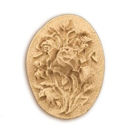 Moulure Woodubend Plaque florale 3.5x2.5cm