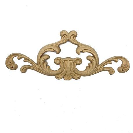 Moulure décorative 1 panache décoratif 12x28,5cm