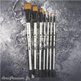 Pinceau à peinture et texture Prima Finnabair Art Basics set de 3