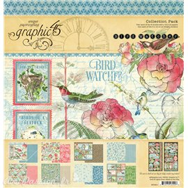 Papier scrapbooking assortiment Graphic 45 Bird Watcher Collection Pack 16fe 30x30