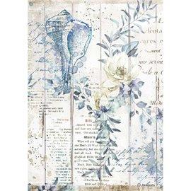 Papier de riz Stamperia A4 Romantic Sea Dream coquilles