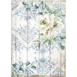 Papier de riz Stamperia A4 Romantic Sea Dream fleur blanche