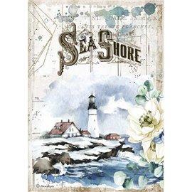 Papier de riz Stamperia A4 Romantic Sea Dream Sea Shore