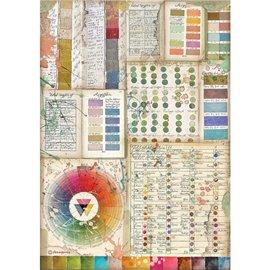 Papier de riz Stamperia A4 Atelier pantone charts