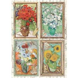 Papier de riz Stamperia A4 Atelier Van Gogh