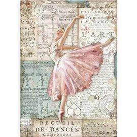 Papier de riz Stamperia A4 Passion danseuse