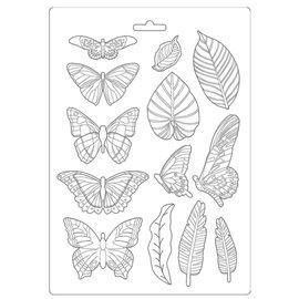 Moule décoratif thermoformé Stamperia Amazonia feuilles et papillons