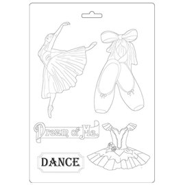 Moule décoratif thermoformé Stamperia Passion danseuse