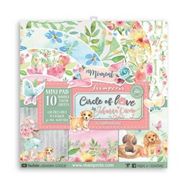 Papier scrapbooking assortiment Stamperia Circle of Love  10f 20x20 recto verso