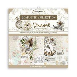 Papier scrapbooking assortiment Stamperia Romantic Journal 10f 30x30