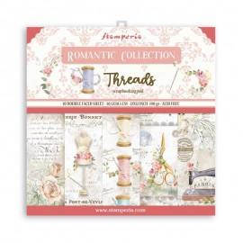 Papier scrapbooking assortiment Stamperia Romantic Threads 10f 30x30