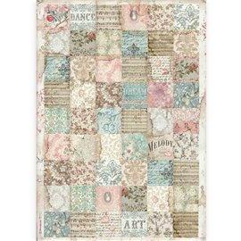 Papier de riz Stamperia A3 Passion patchwork
