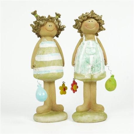 Objet de décoration statuette couple enfant ballon