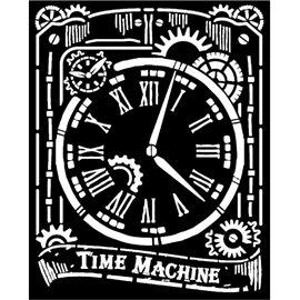 Pochoir décoratif Stamperia 20x25cm Horloge