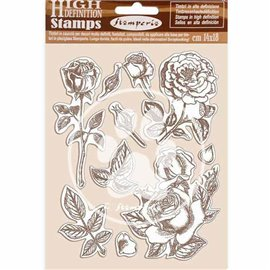 Tampon caoutchouc Stamperia Passion Rose 14x18