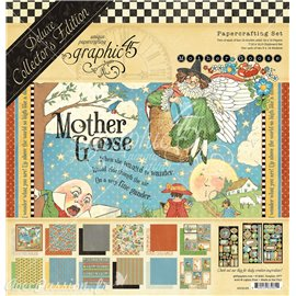 Papier scrapbooking assortiment Graphic 45 Mother Goose Deluxe Collector's Edition 16fe 30x30