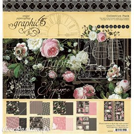 Papier scrapbooking assortiment Graphic 45 Elegance Collection Pack 16fe 30x30